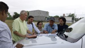 Local government officials provided the EWB team with a tour of Las Mercedes and the water treatment plant