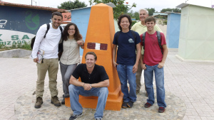 The EWB team and me at a marker that divides Peru/Ecuador