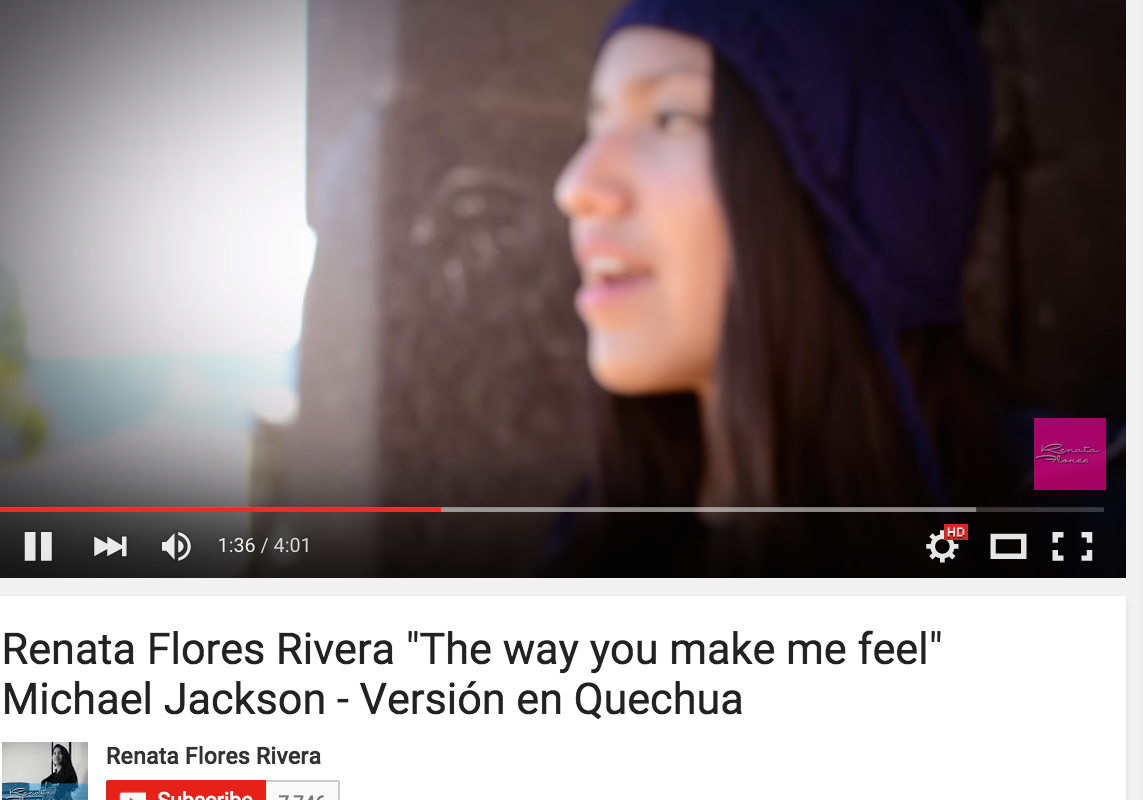 The Way You Make Me Feel in Quechua